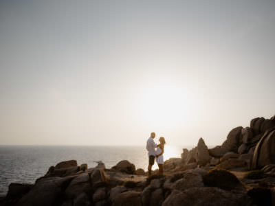 Maternity photo in Santa teresa Sardinia