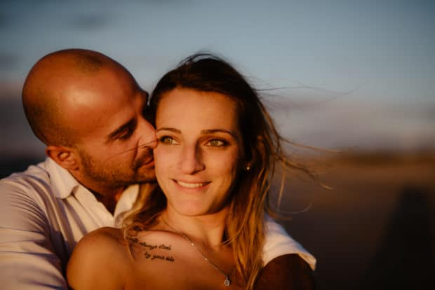 Engagement on the beach in Sassari