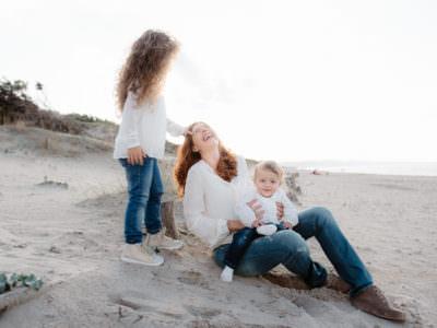 family vacation photo on the sardinia  beach