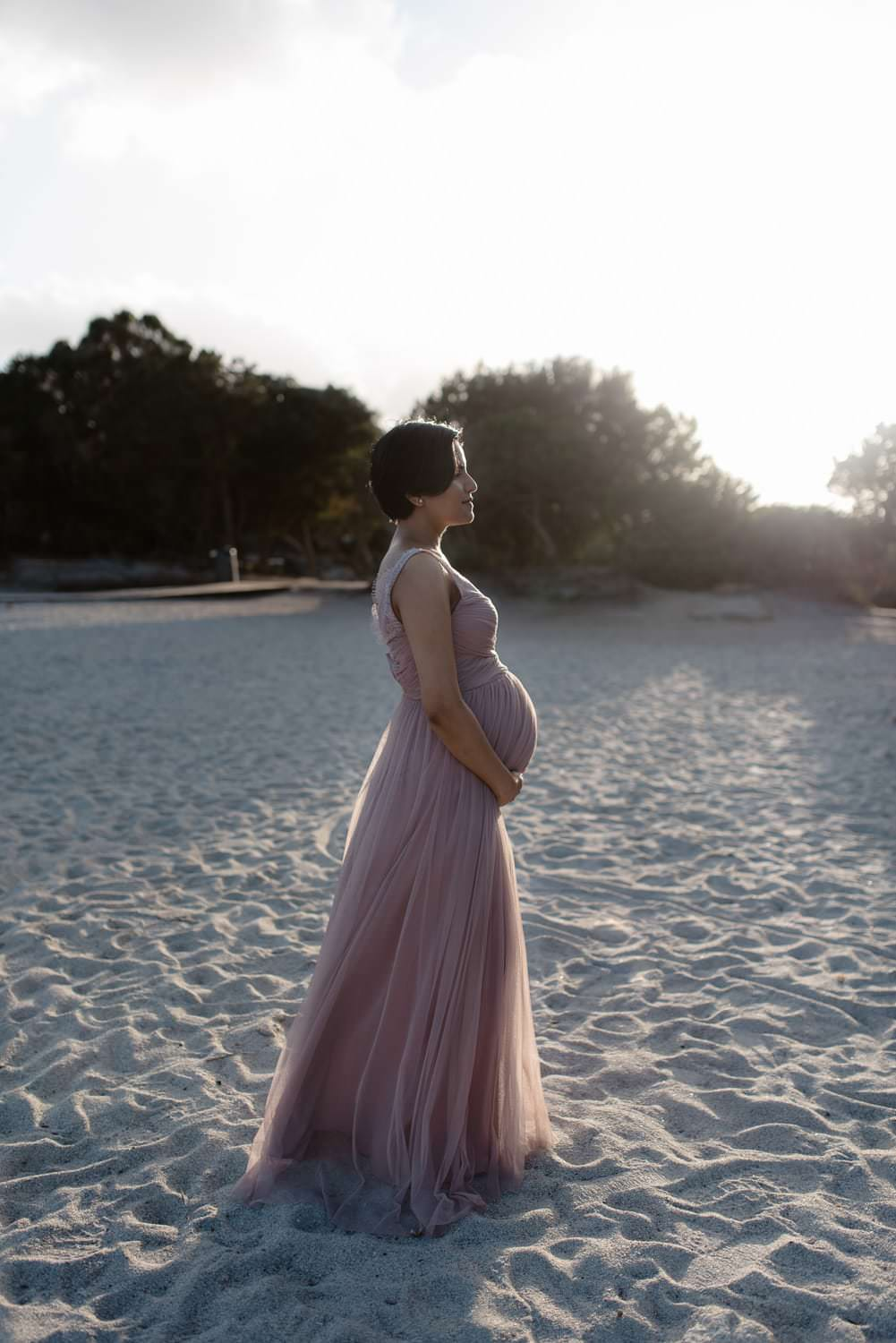 Maternity photos in Sardinia