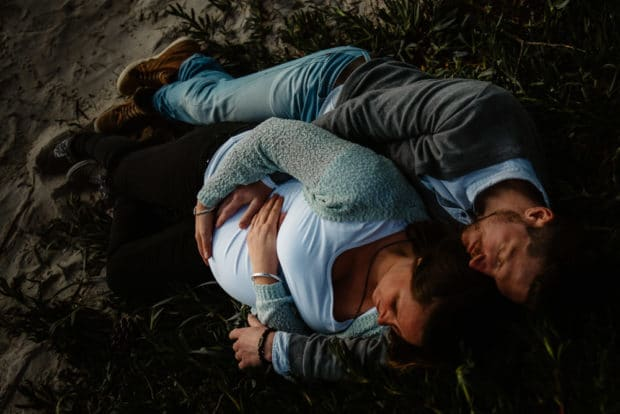 servizio foto gravidanza in coppia