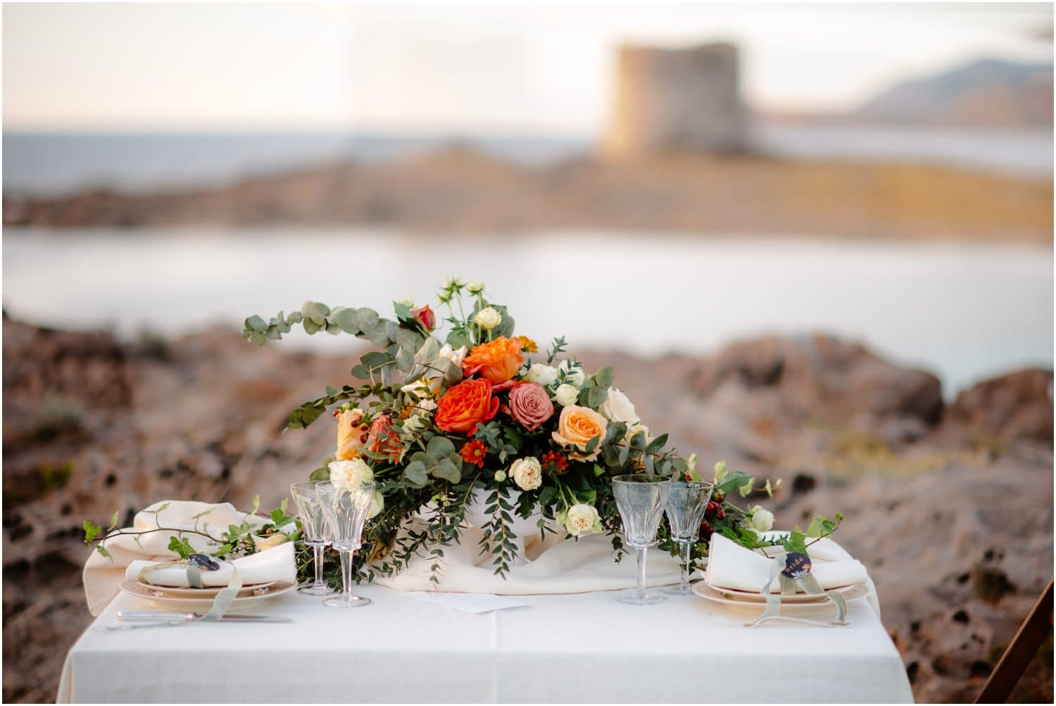 boho wedding on sardinia beach