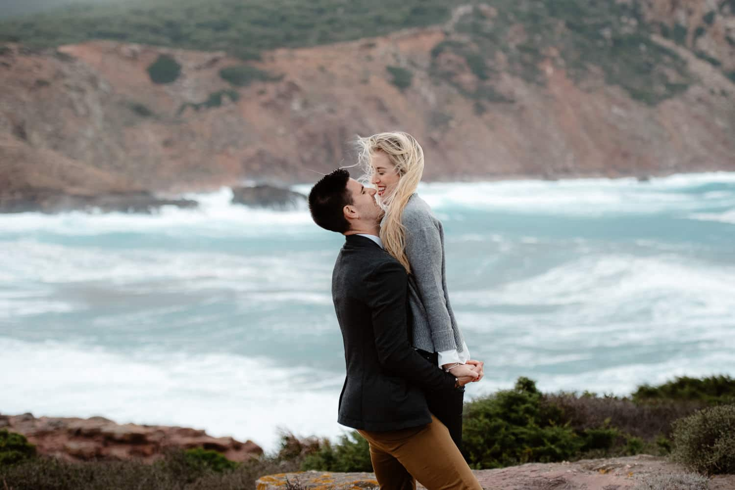 wedding proposal seaside sardinia