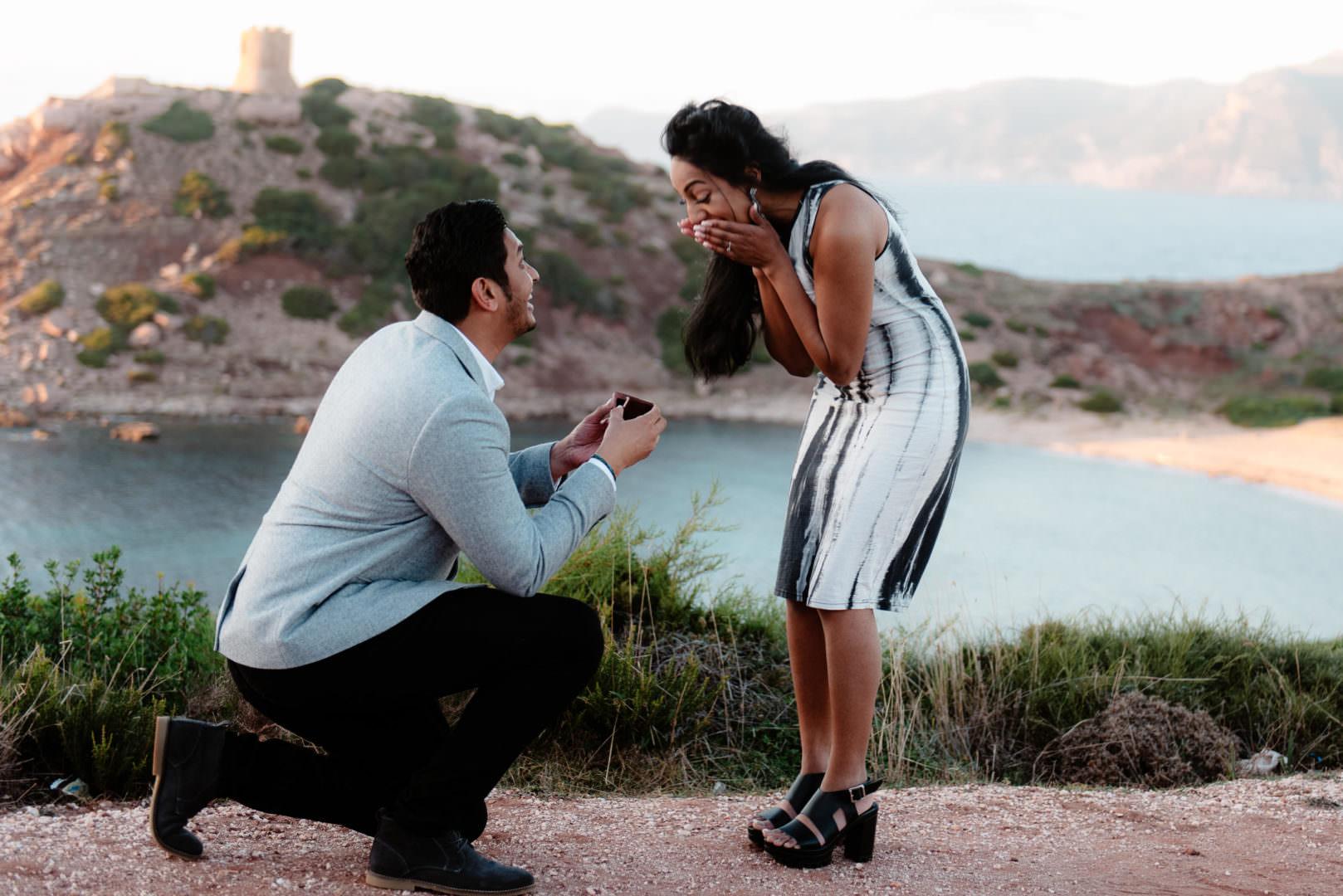 wedding proposal Alghero, nord sardinia