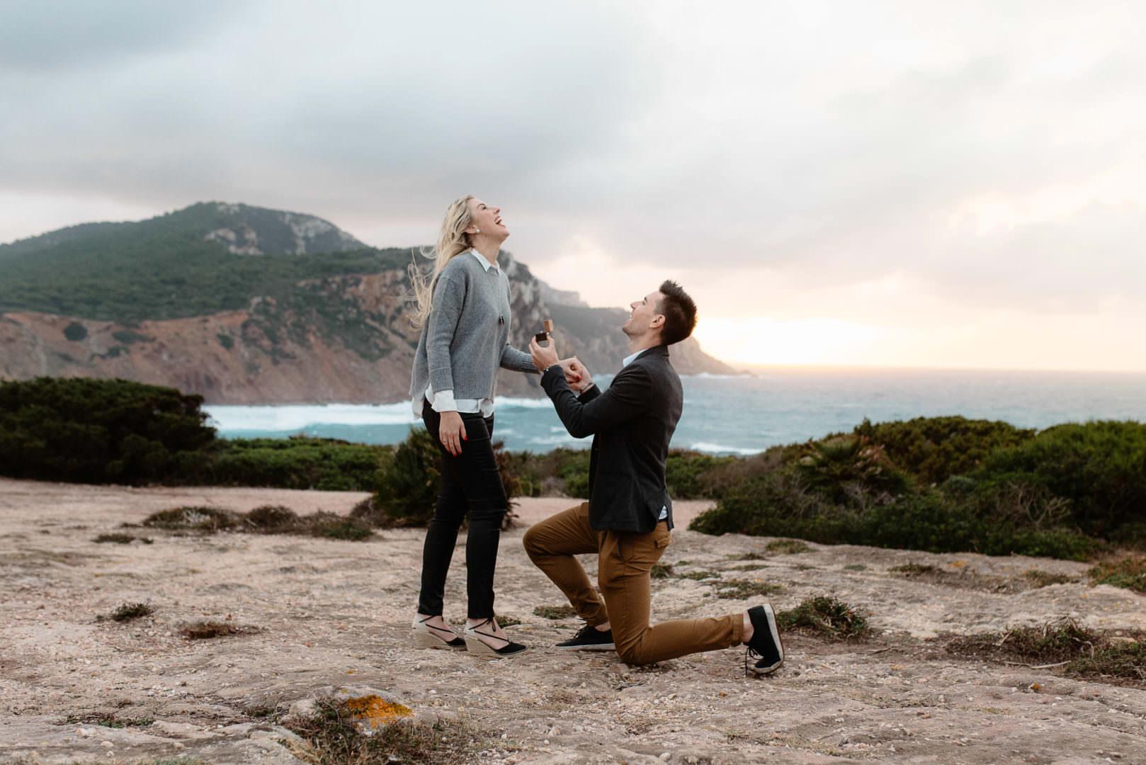 wedding proposal Alghero,