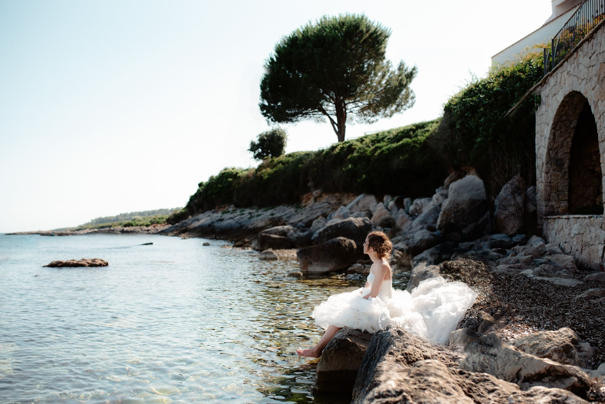 wedding photographer sardinia on the beach